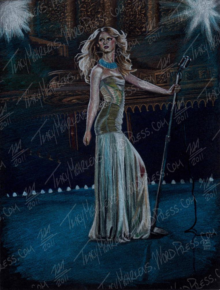 Taylor Swift. Pastel on Paper. 8x10.5 in. 2011.