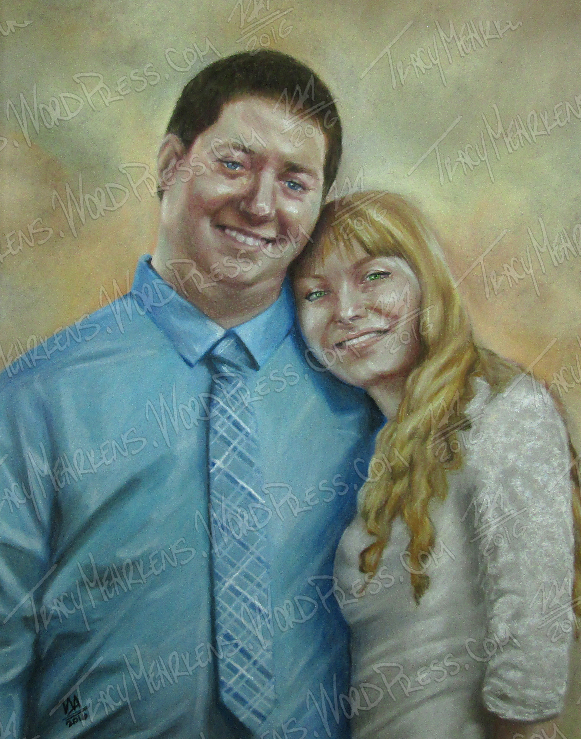 Newlyweds. Pastel on Paper. 11x14 in. 2016.