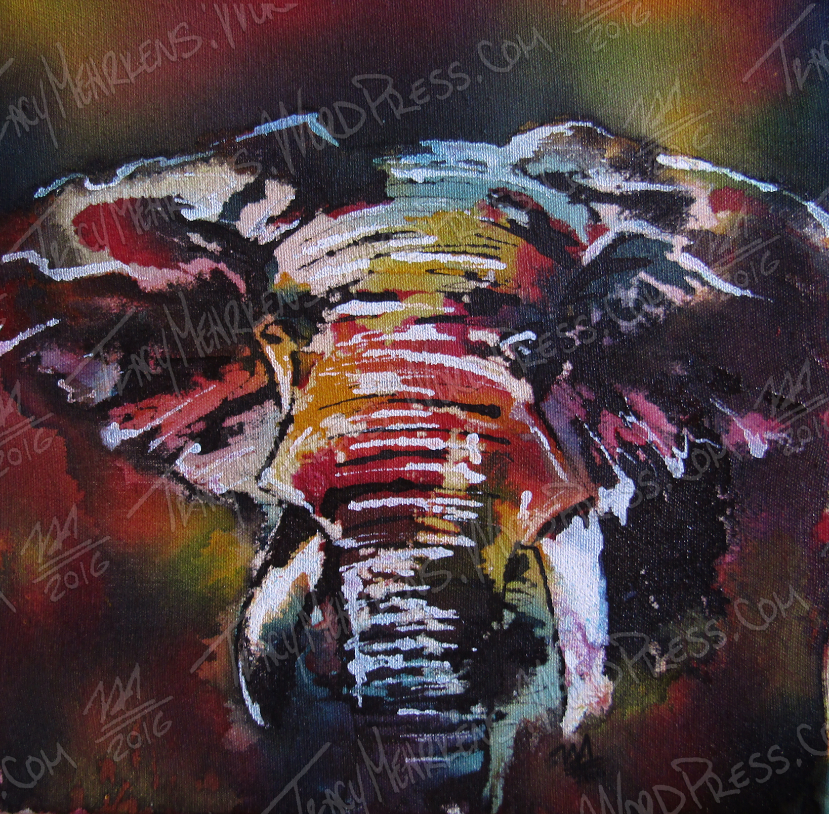 Elephant. Mixed Media on Canvas. 2016.