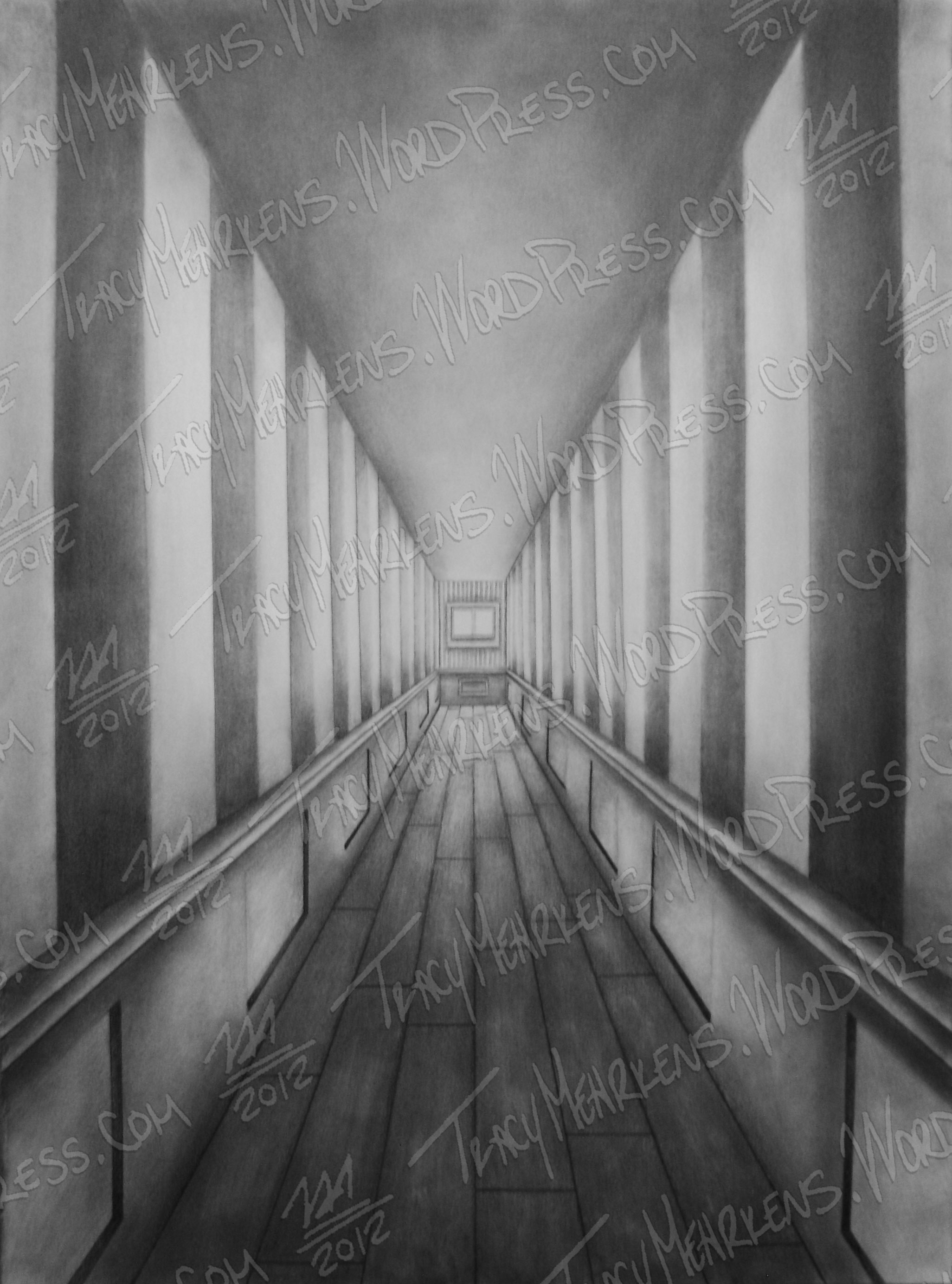 The Depth of Lonely. Graphite on Paper. 18x24 in. 2012.
