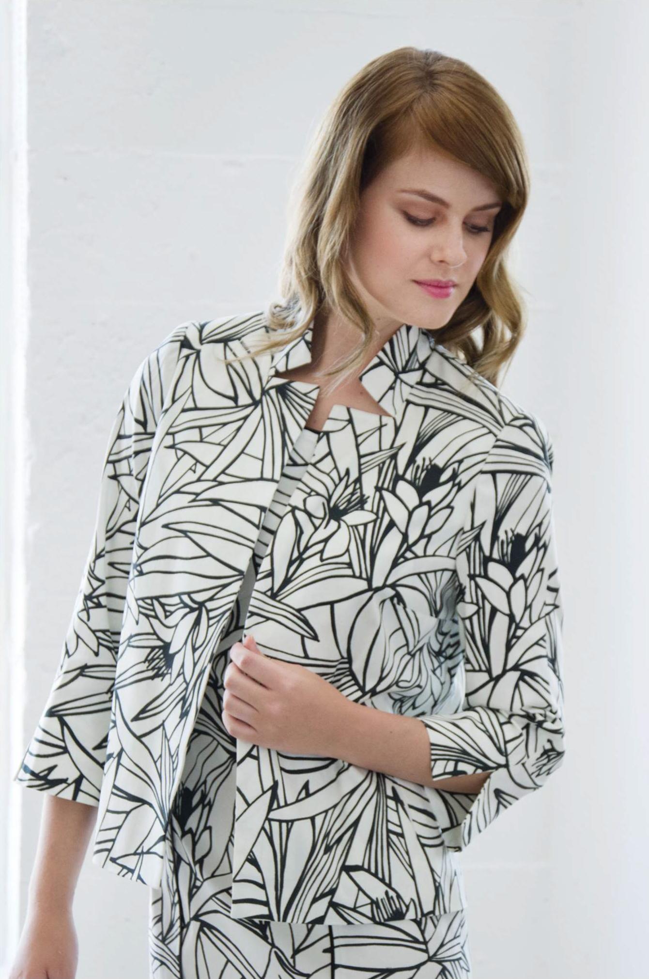 Jacket: Kendra 1, Dress: Polly 2 - SANTORELLI
