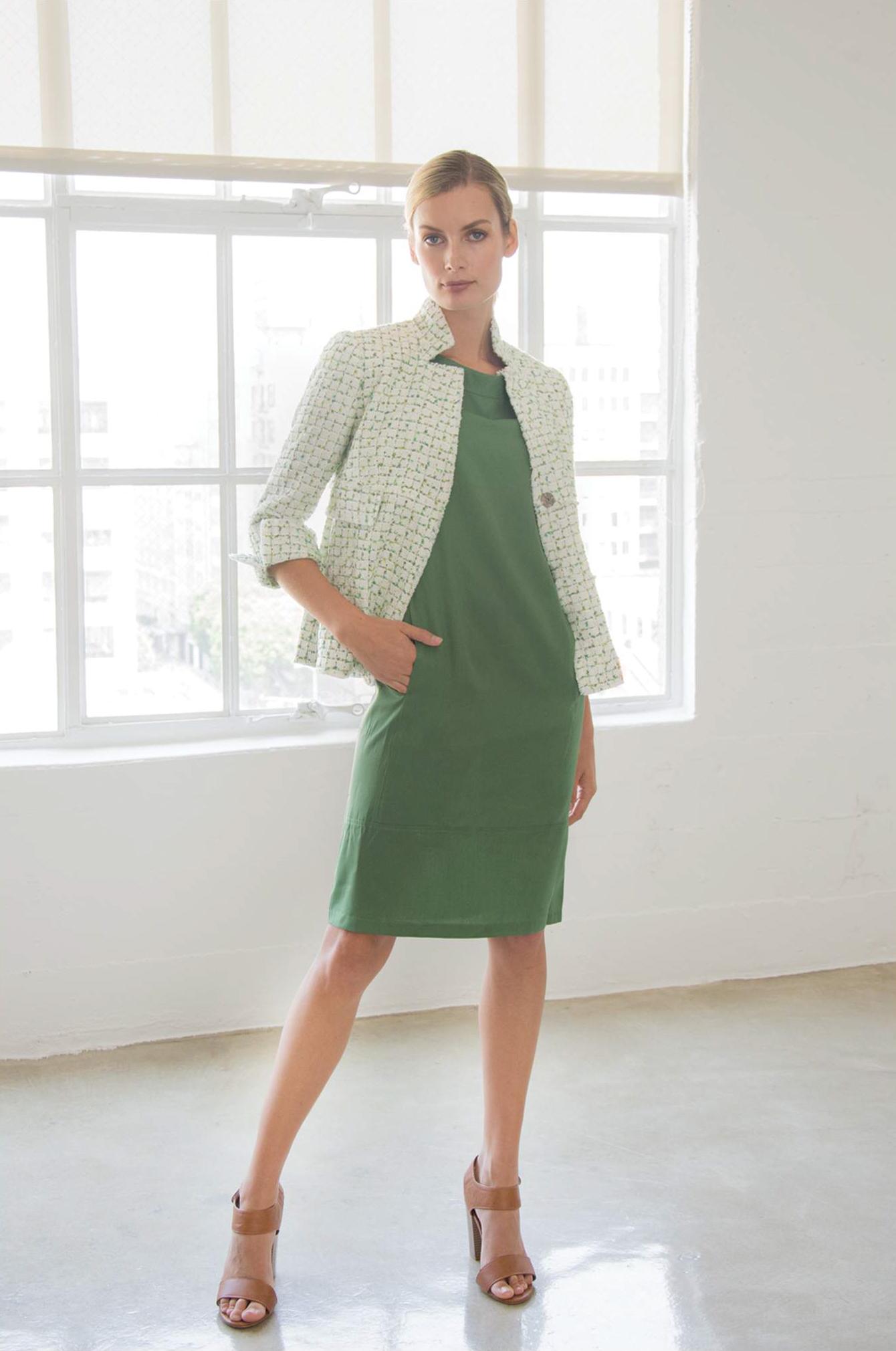 Jacket: Kendra 2, Dress: Lynn - SANTORELLI