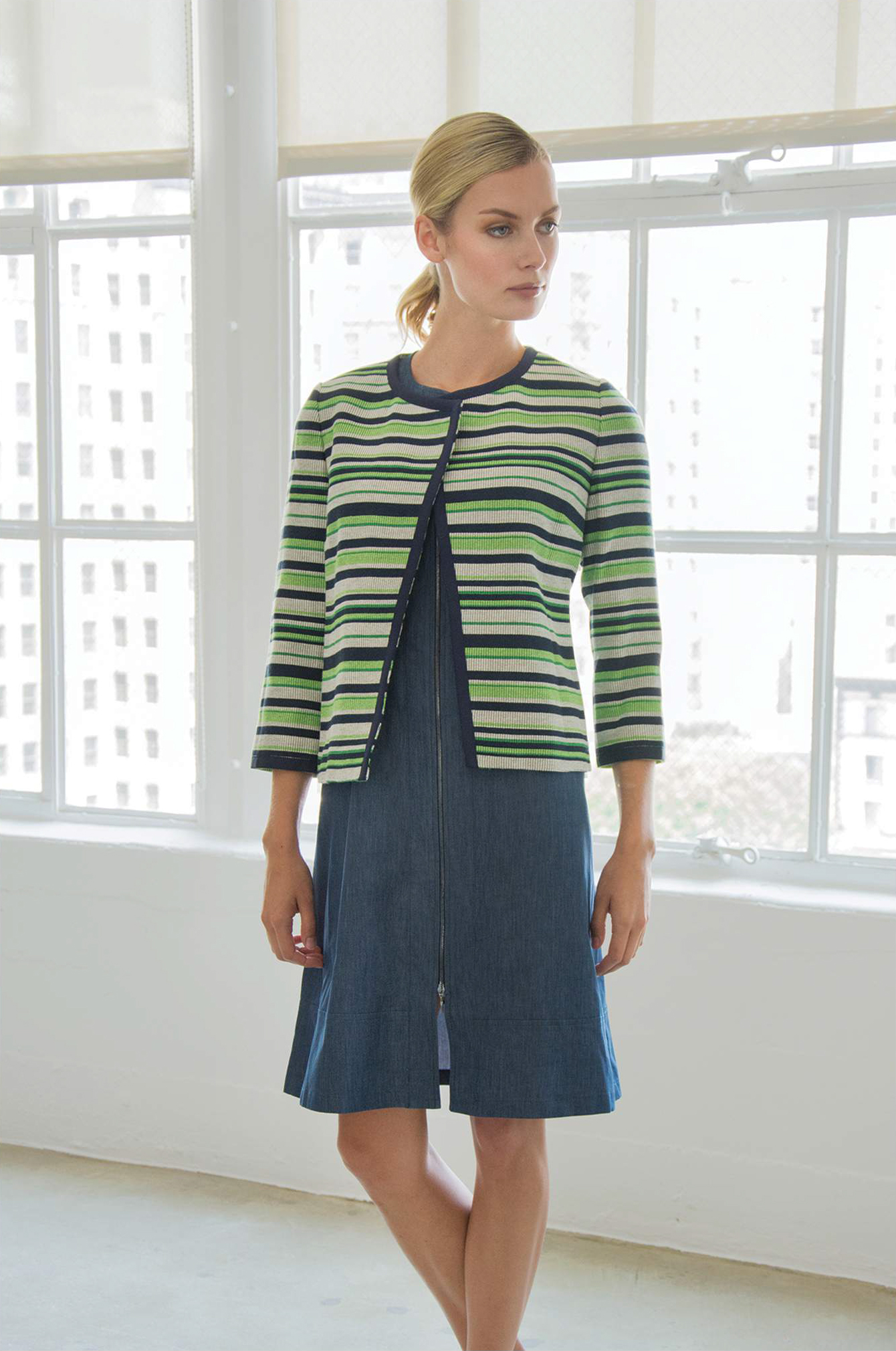 Jacket: Maxim 2, Dress: Angela - SANTORELLI