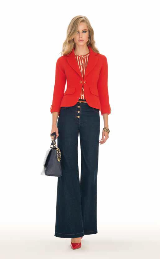 Jacket: Milleluci, Blouse: Bank, Jeans: Assisi - SPAGNOLI