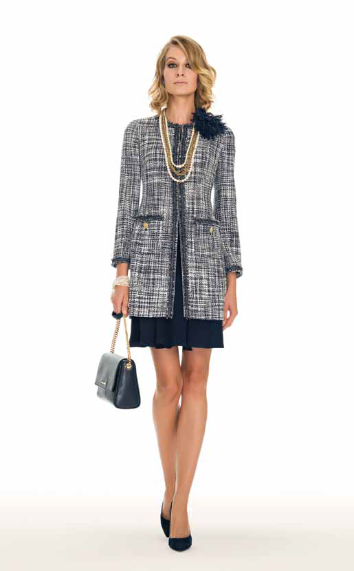 Overcoat: Voi, Dress: Pinacoteca - SPAGNOLI