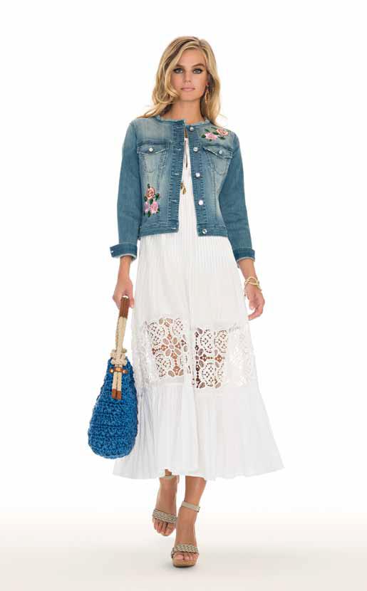 Jacket: Vincoli, Dress: Peter - SPAGNOLI