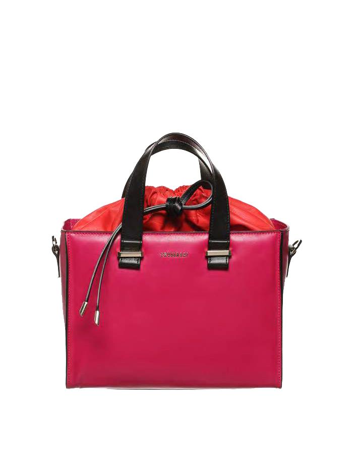 VITELLO ELITE Two Tone Bag, Color: Iris - TRUSSARDI Prima Linea Donna