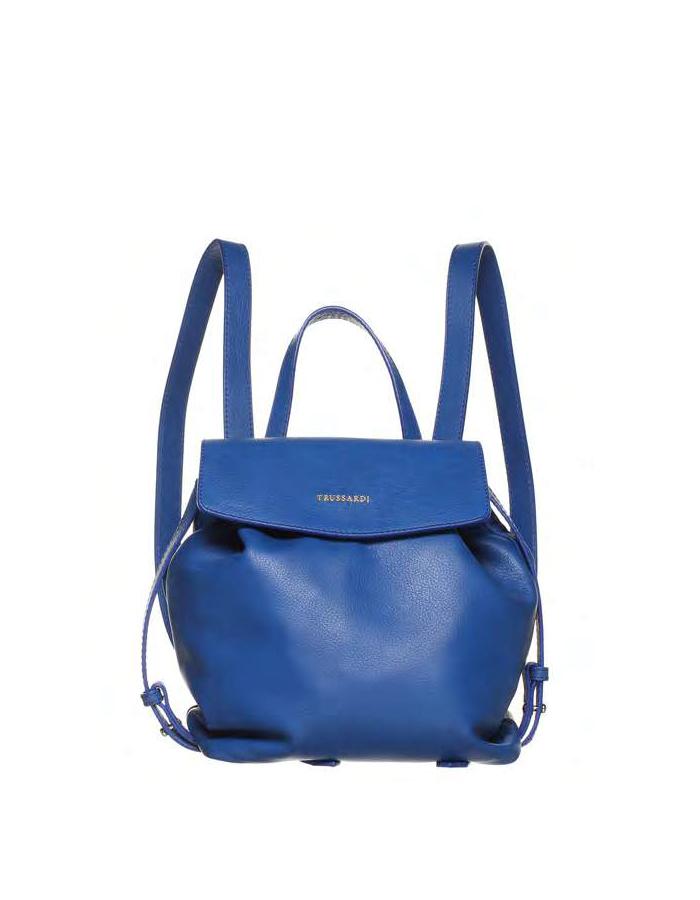 VITELLO SOFT Backpack, Color: Blue - TRUSSARDI Prima Linea Donna