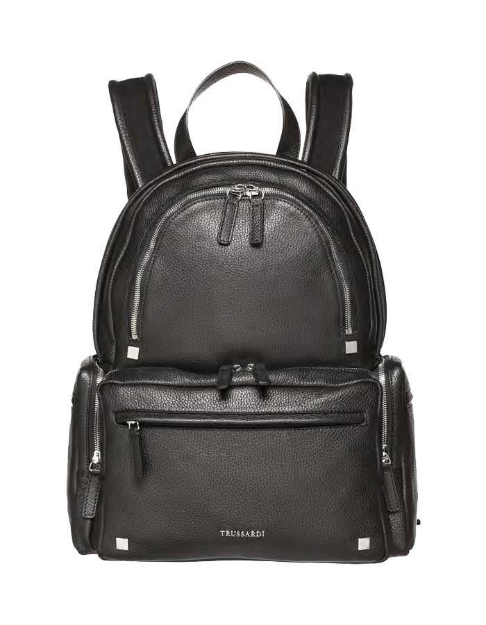 VITELLO DOLLARINO Backpack, Color: Black - TRUSSARDI Prima Linea Uomo