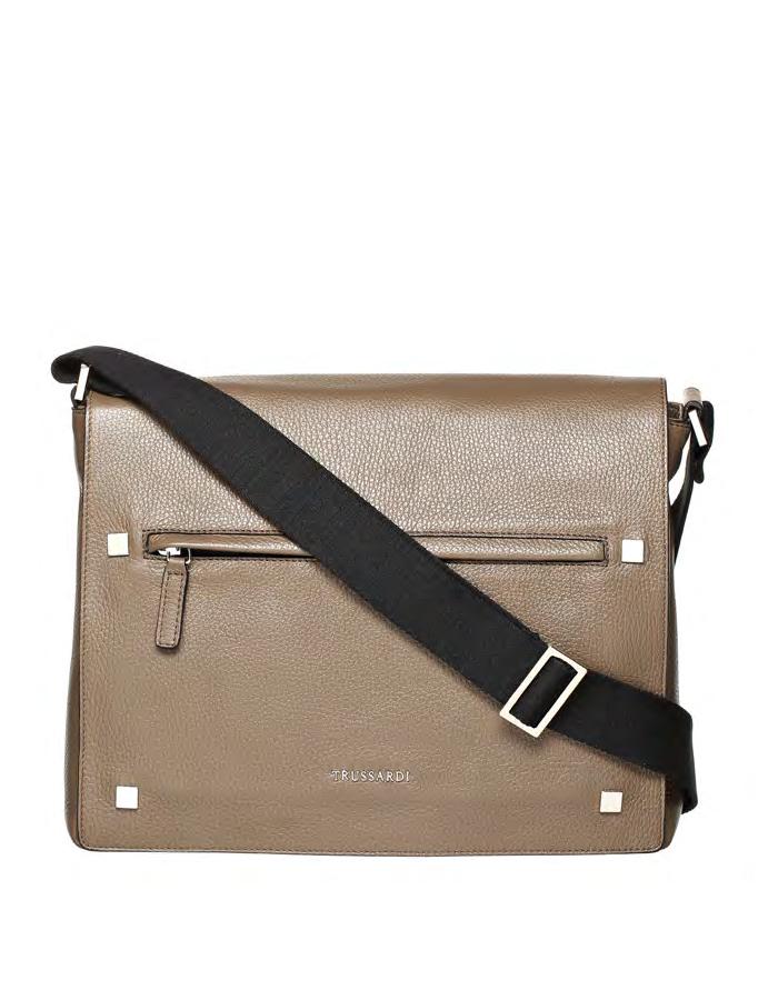 VITELLO DOLLARINO Shoulder Bag, Color: Taupe - TRUSSARDI Prima Linea Uomo