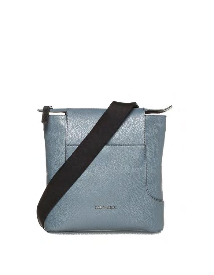 VITELLO MIRO Shoulder Bag, Color: Slate - TRUSSARDI Prima Linea Uomo