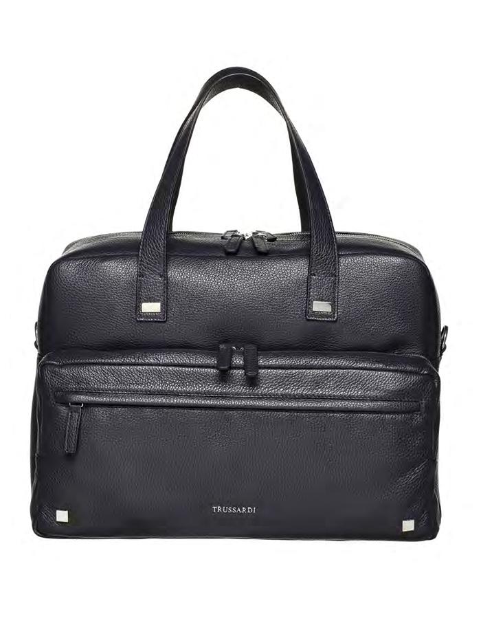 VITELLO DOLLARINO Travel Bag, Color: Black - TRUSSARDI Prima Linea Uomo