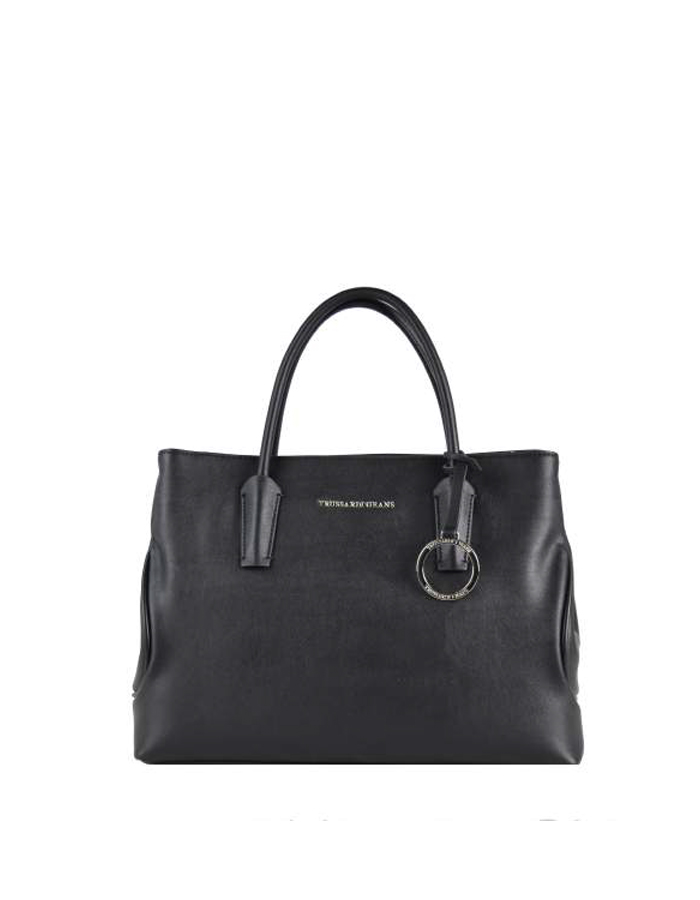 ALASKA Bauletto Leather, Color: Black - TRUSSARDI JEANS