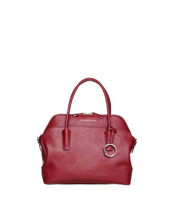 ALASKA Tote Leather, Color: Bordeaux- TRUSSARDI JEANS