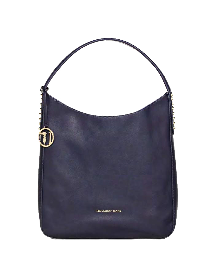ASPEN Hobo Ecoleather, Color: Dark Blue - TRUSSARDI JEANS