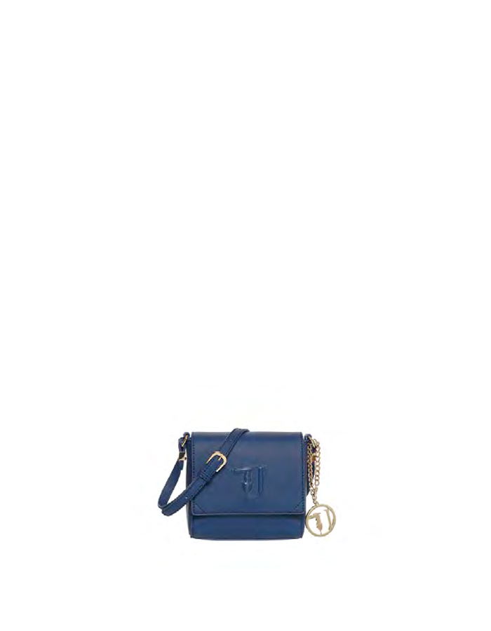 ISCHIA Cross Body Ecoleather, Color: Blue - TRUSSARDI JEANS