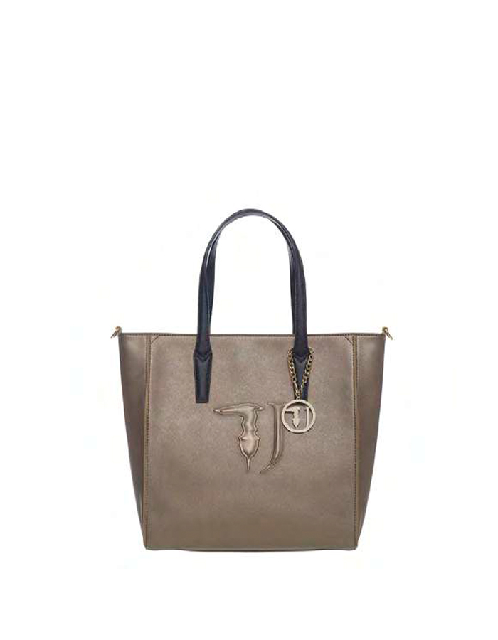 ISCHIA Shopper Ecoleather, Color: Bronze - TRUSSARDI JEANS