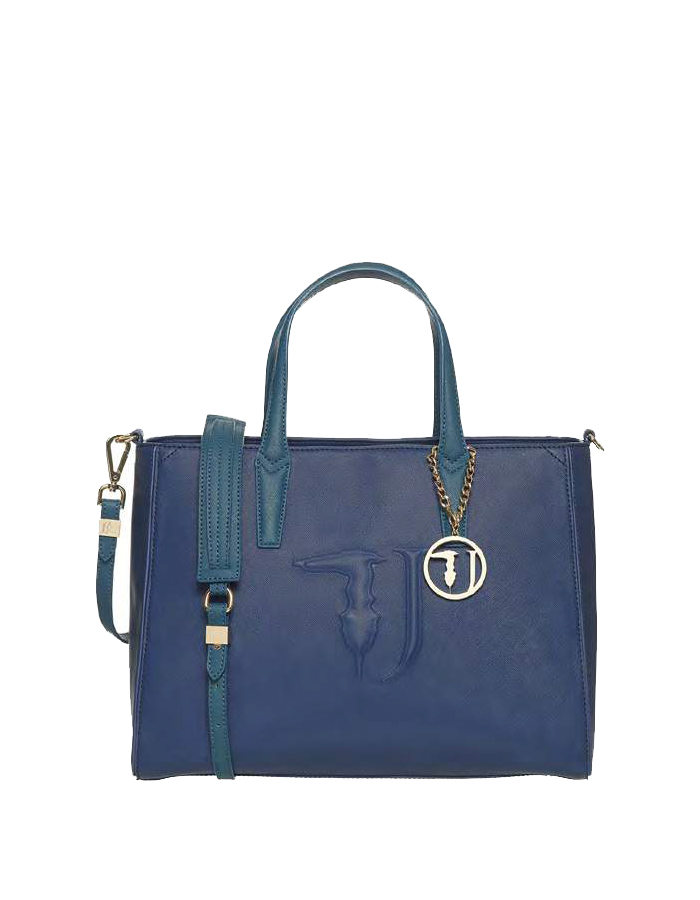 ISCHIA Tote Ecoleather Blue, Color: Green - TRUSSARDI JEANS