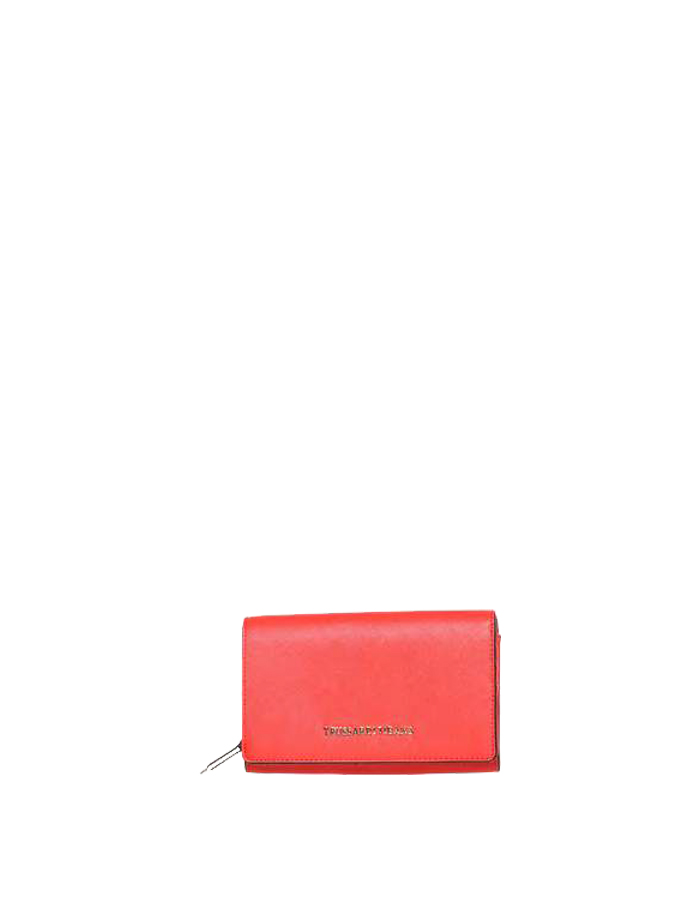 LEVANTO ECOSAFFIANO Wallet, Color: Red - TRUSSARDI JEANS