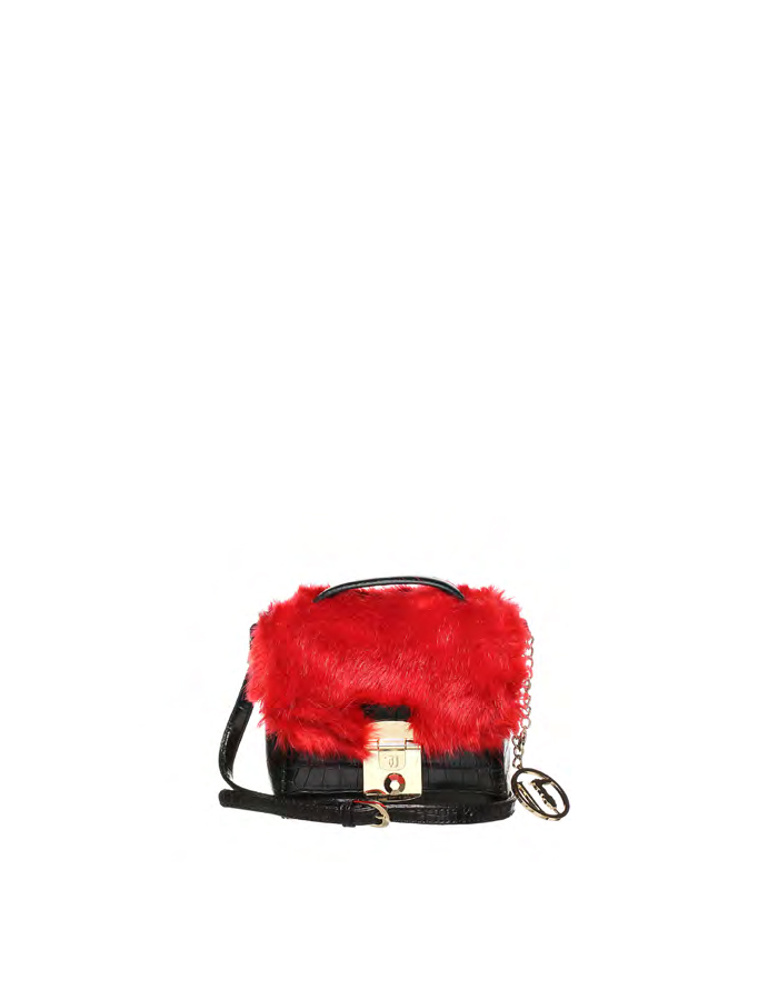 LEVANTO Mini Bag Ecofur, Color: Red - TRUSSARDI JEANS