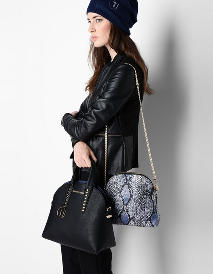 ASPEN Combo Bag Medium Reversible, Color: Black - TRUSSARDI JEANS