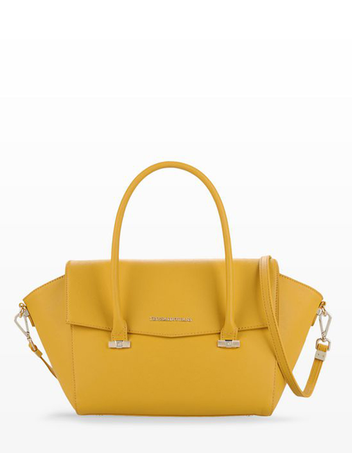 SAFFIANO Flap Bag, Color: Yellow - TRUSSARDI JEANS