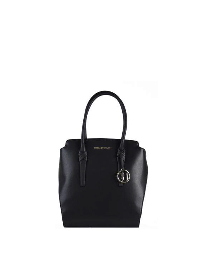 MONTBLANC Shopper Ecoleather, Color: Black - TRUSSARDI JEANS