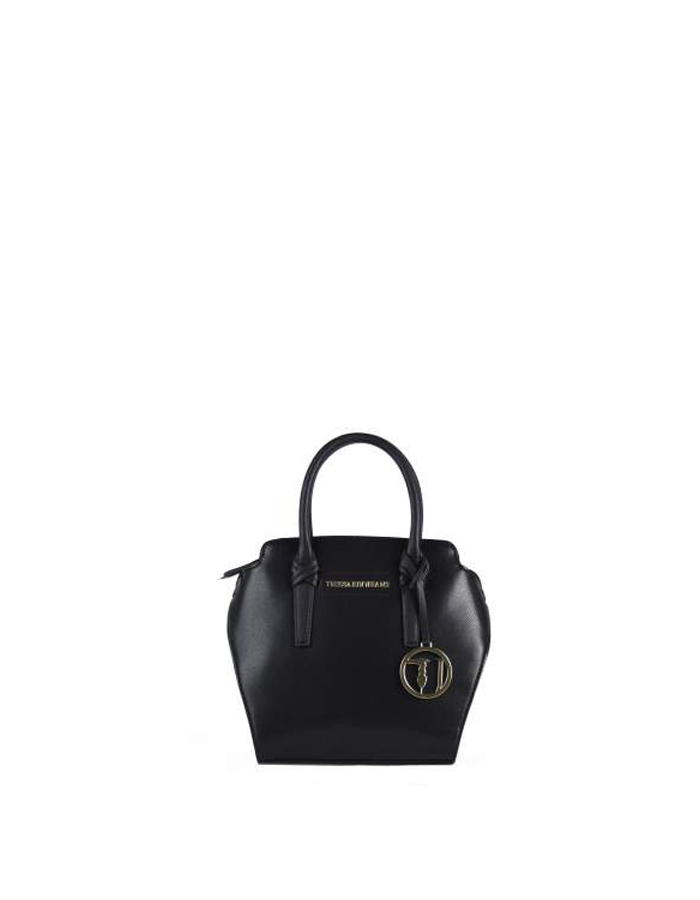 MONTBLANC Tote Small Ecoleather, Color: Black - TRUSSARDI JEANS