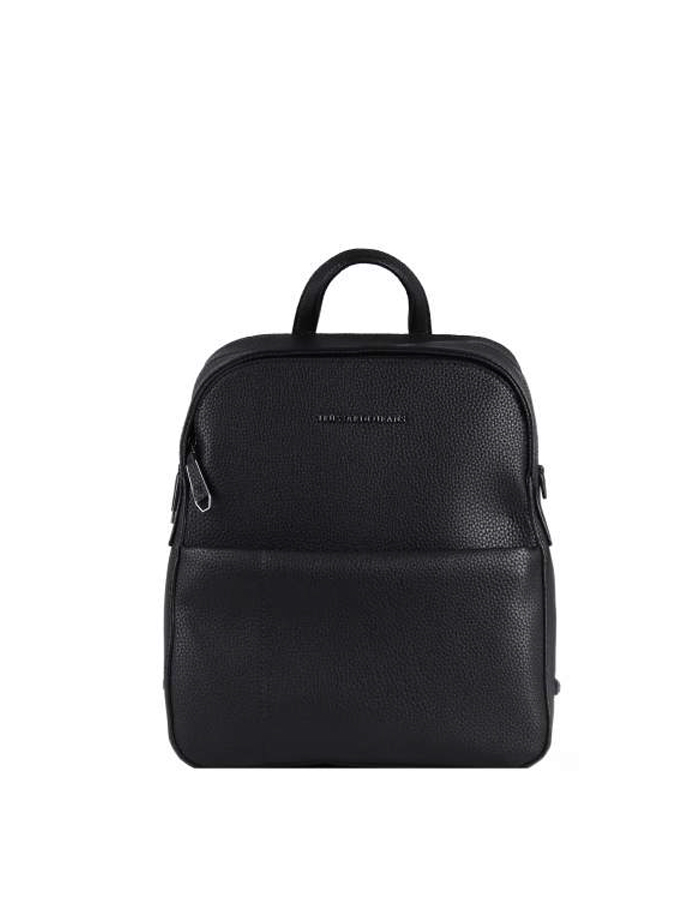 OTTAWA Backpack Leather, Color: Black - TRUSSARDI JEANS