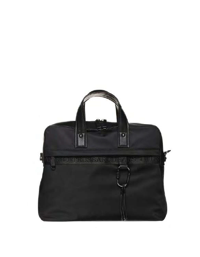 PORTLAND Briefcase Nylon, Color: Black - TRUSSARDI JEANS