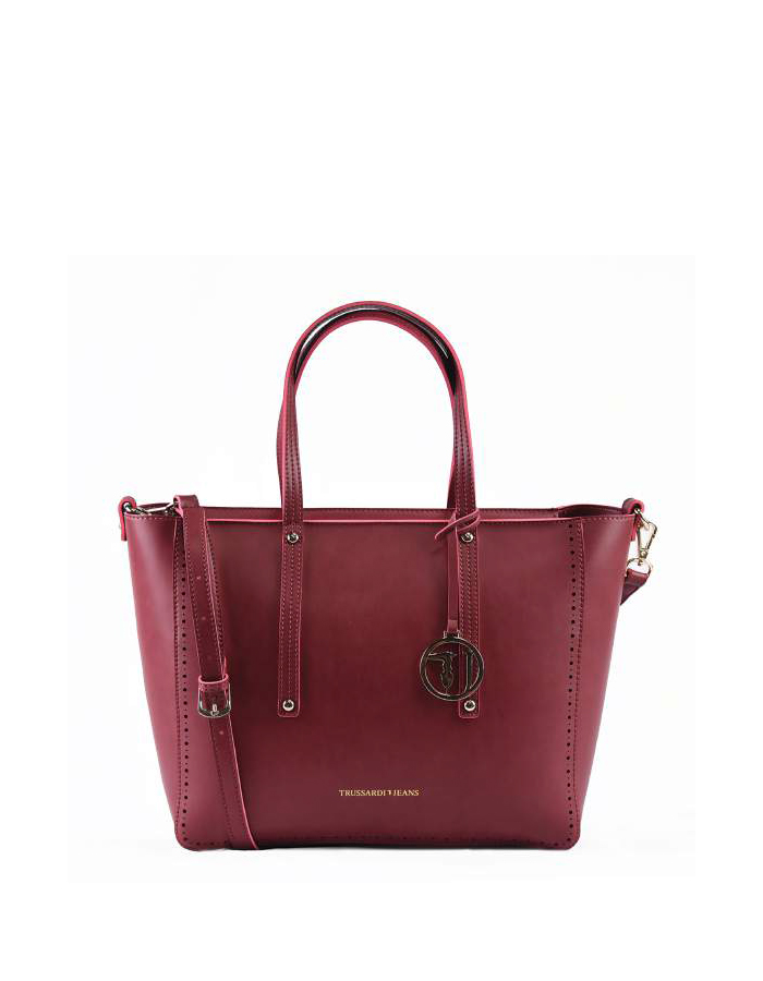 SAGAPO Tote Ecoleather, Color: Red - TRUSSARDI JEANS