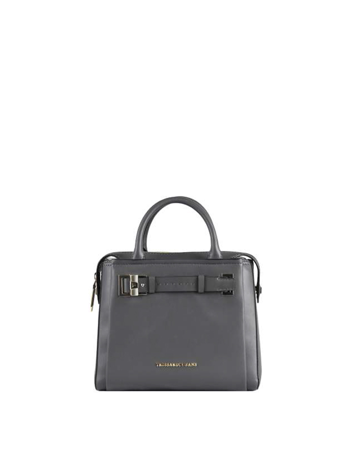 TREMBLANT Tote Medium Ecoleather, Color: Grey - TRUSSARDI JEANS