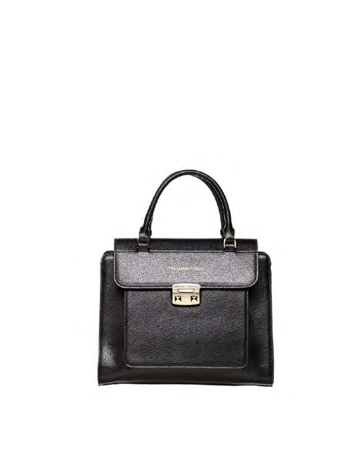 VAIL SAFFIANO Tote Flap Ecoleather, Color: Black - TRUSSARDI JEANS