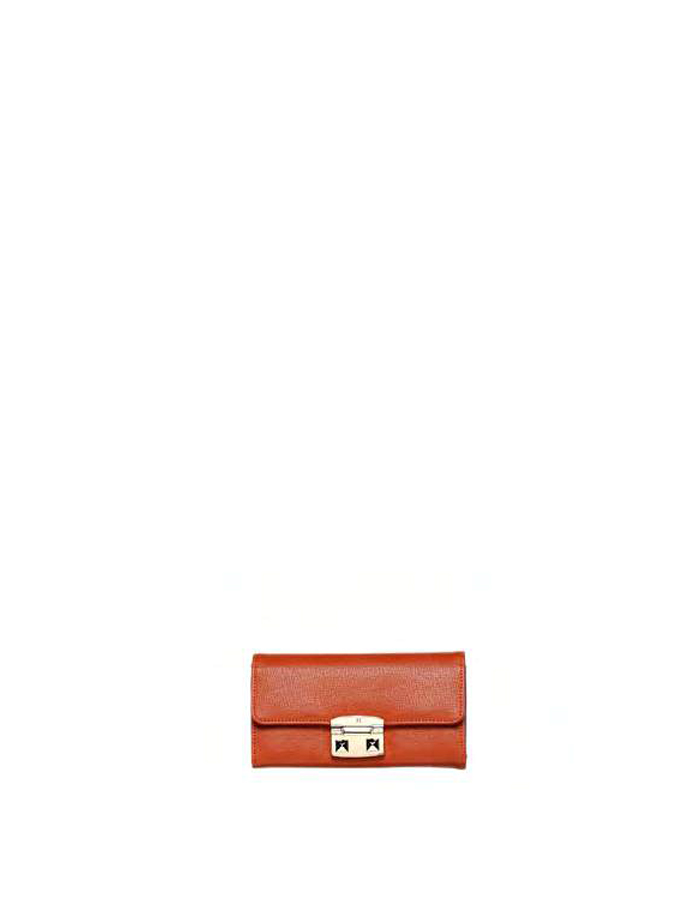VAIL SAFFIANO Wallet Ecoleather, Color: Orange - TRUSSARDI JEANS