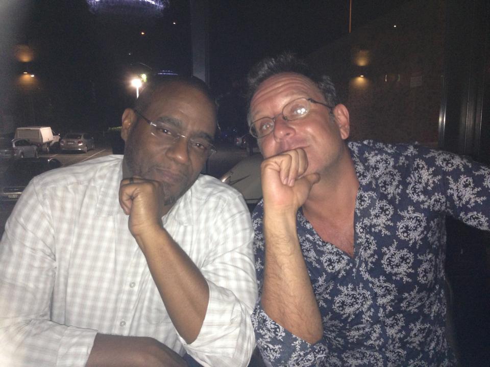 Rum pondering with John Georges, master distiller, Angostura rums, Trinidad.