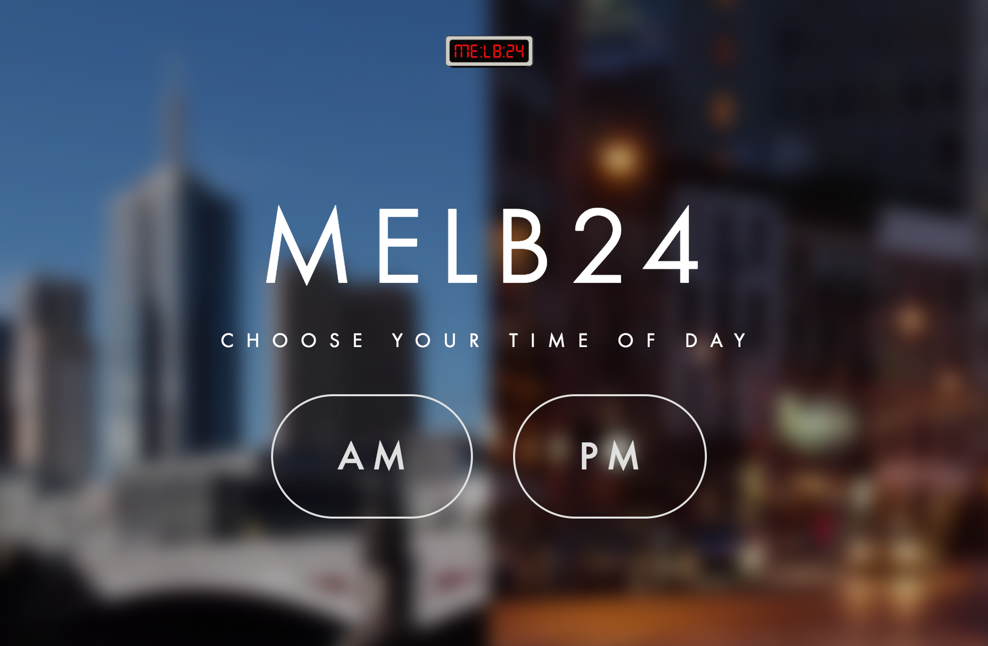 MELB24 is an unforgettable moment - 24 stories over 24 hours.