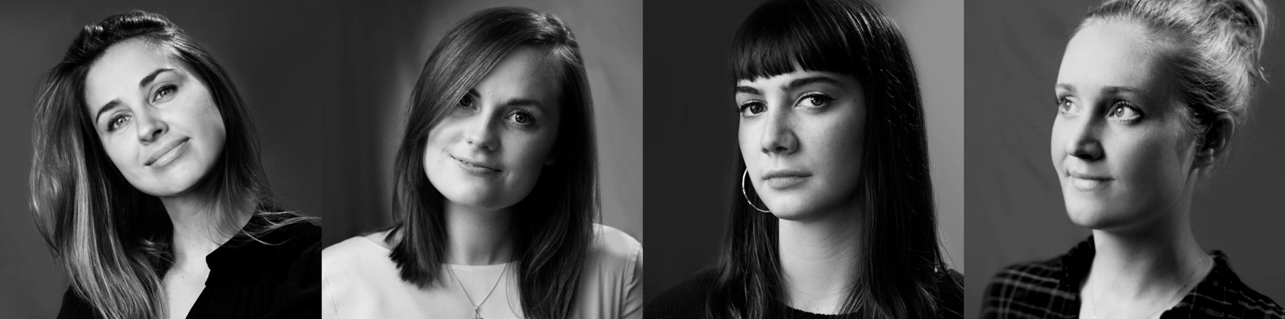 First year students Natalia Chernaya, Christine Gjelstrup, Vanessa Crouch and Katie Graham, creators of the documentary 'Outcasting' (2018)