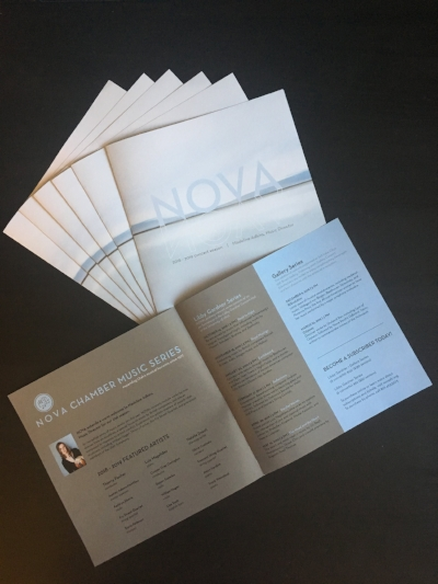 We coordinated with NOVA's print designer so that the new site design matches the look of NOVA's season brochures, maintaining consistent visual branding.