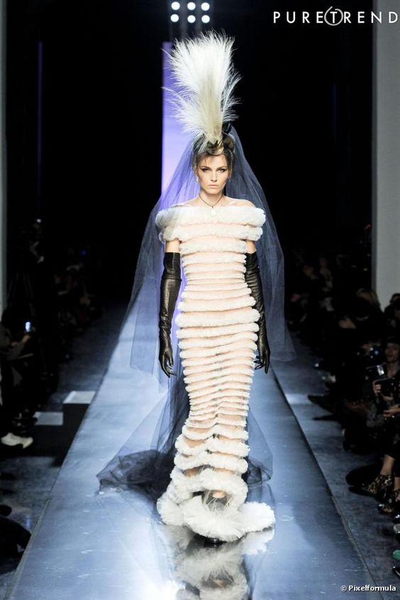 Andreja Pejic in Jean Paul Gaultier Spring 2011 Haute Couture