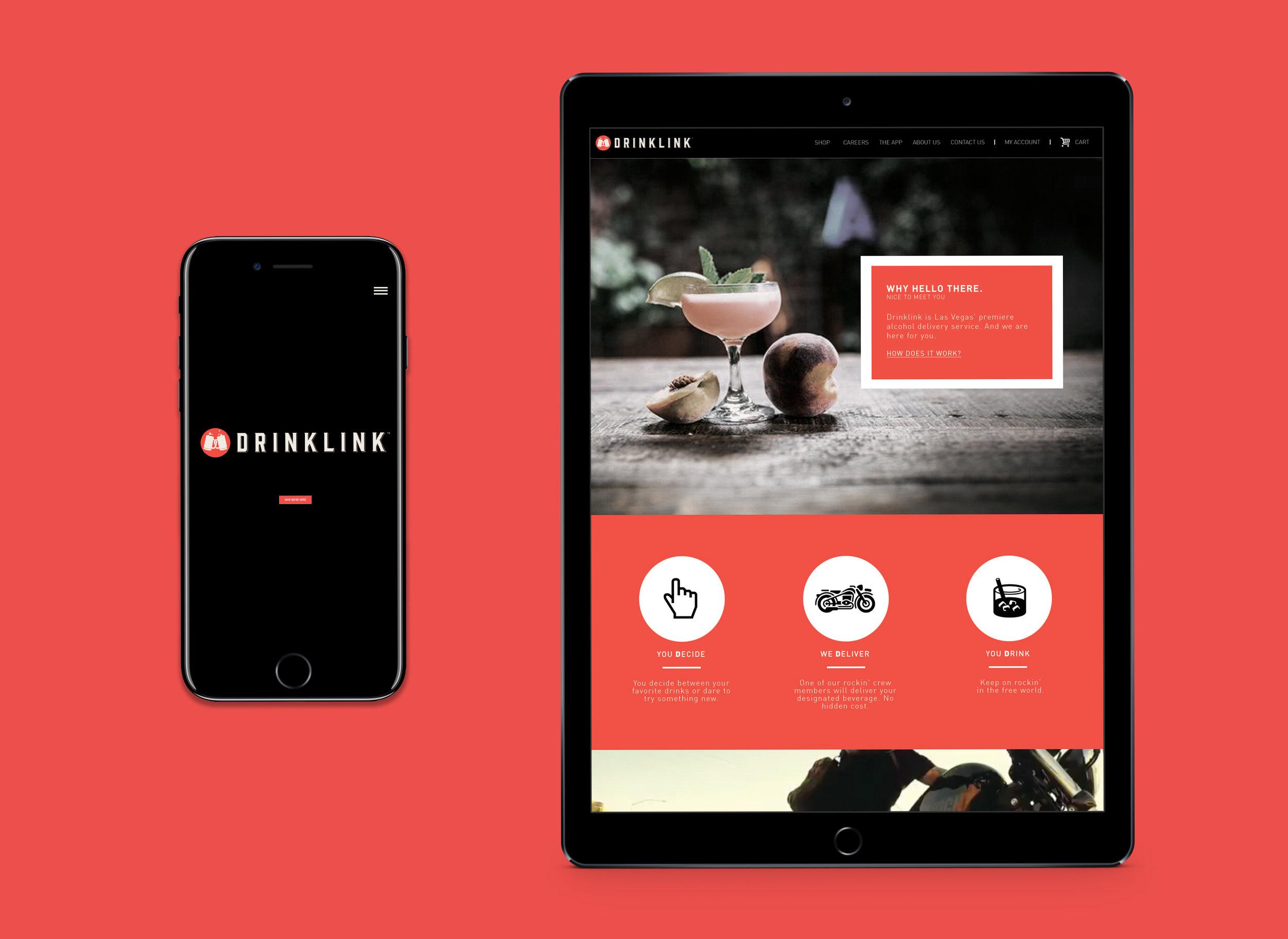 Drinklink Website Full Front End + UX/UI Design