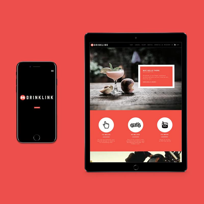 Drinklink on Mobile / Tablet