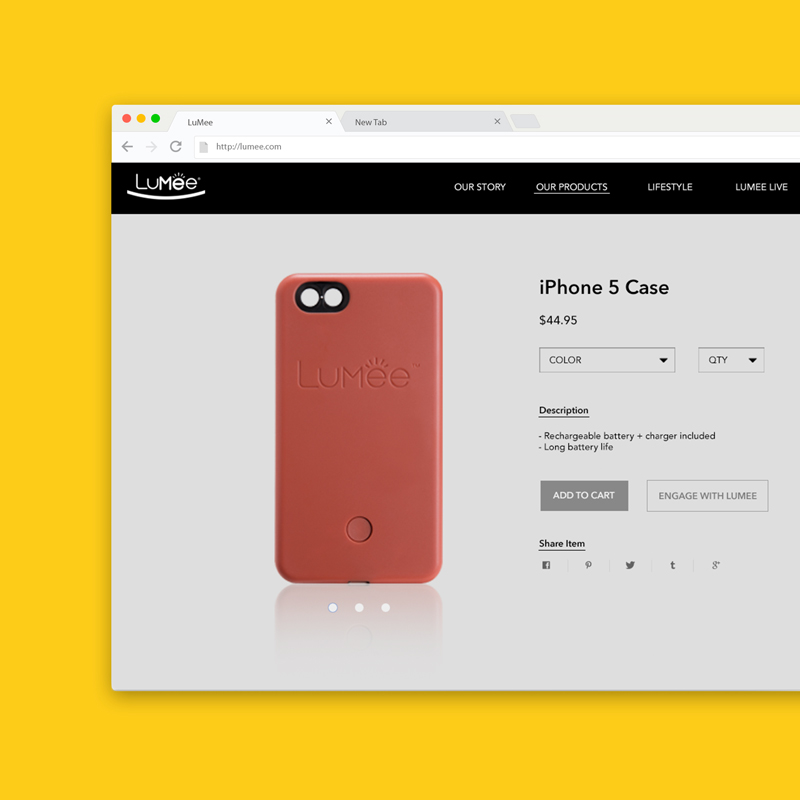 LuMee Product Page Close Up