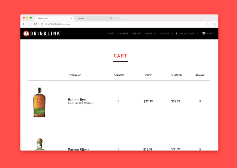Drinklink Product Page (Click for Large View)