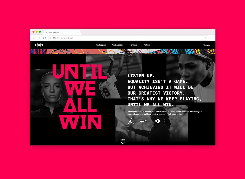 Nike – Until We All Win – BHM Manifesto Page