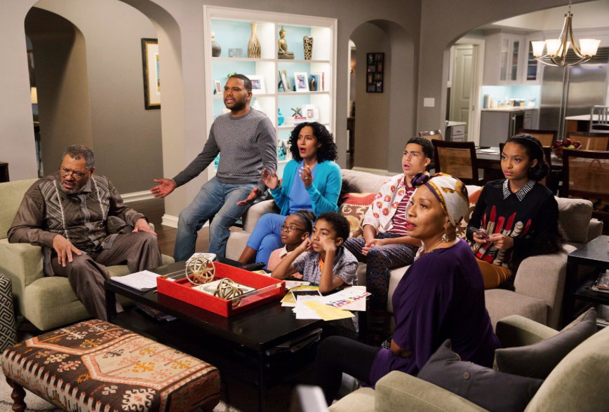 The cast of  Blackish.