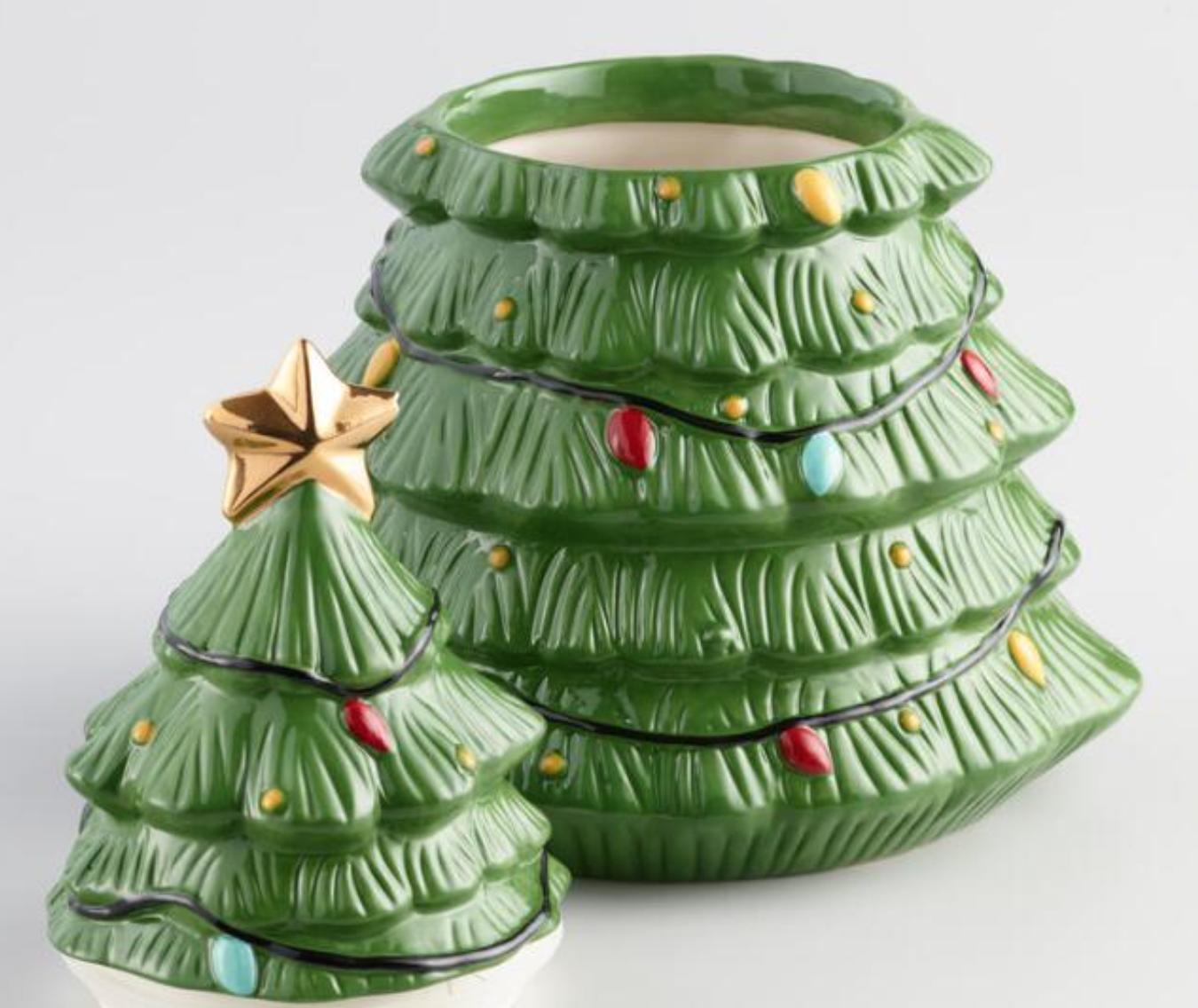 World Market: Ceramic Holiday Tree Cookie Jar , $14.99