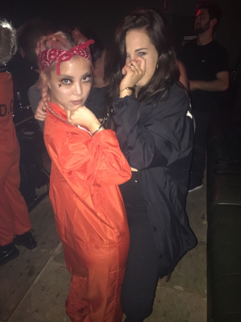 """August 2016 -  Nat  @ Birdcage had the amazing idea to do a """"Birdcage is the New Black"""" party, because duh lesbians. I am handcuffed to the babely  Jen  and I am not complaining."""