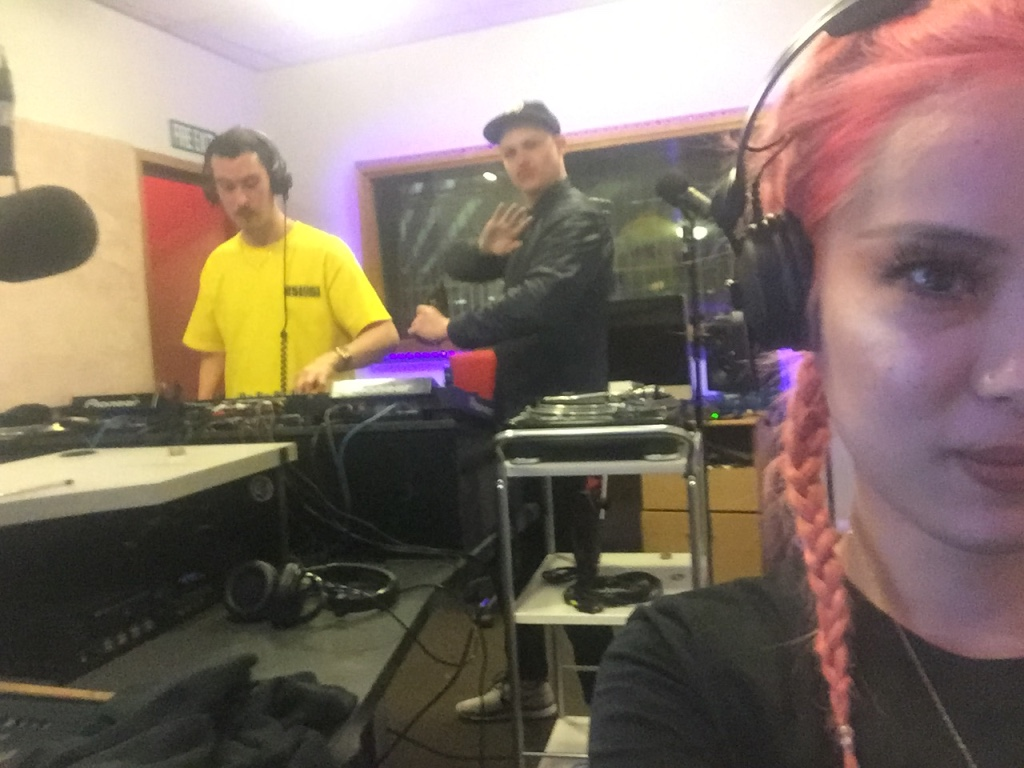 August 2016 - This is the  Swiss Dank  boys, Sean  and   Mace , and myself recording our first demo for a potential radio show. We ended up recording two demos because I am a mad perfectionist lol.