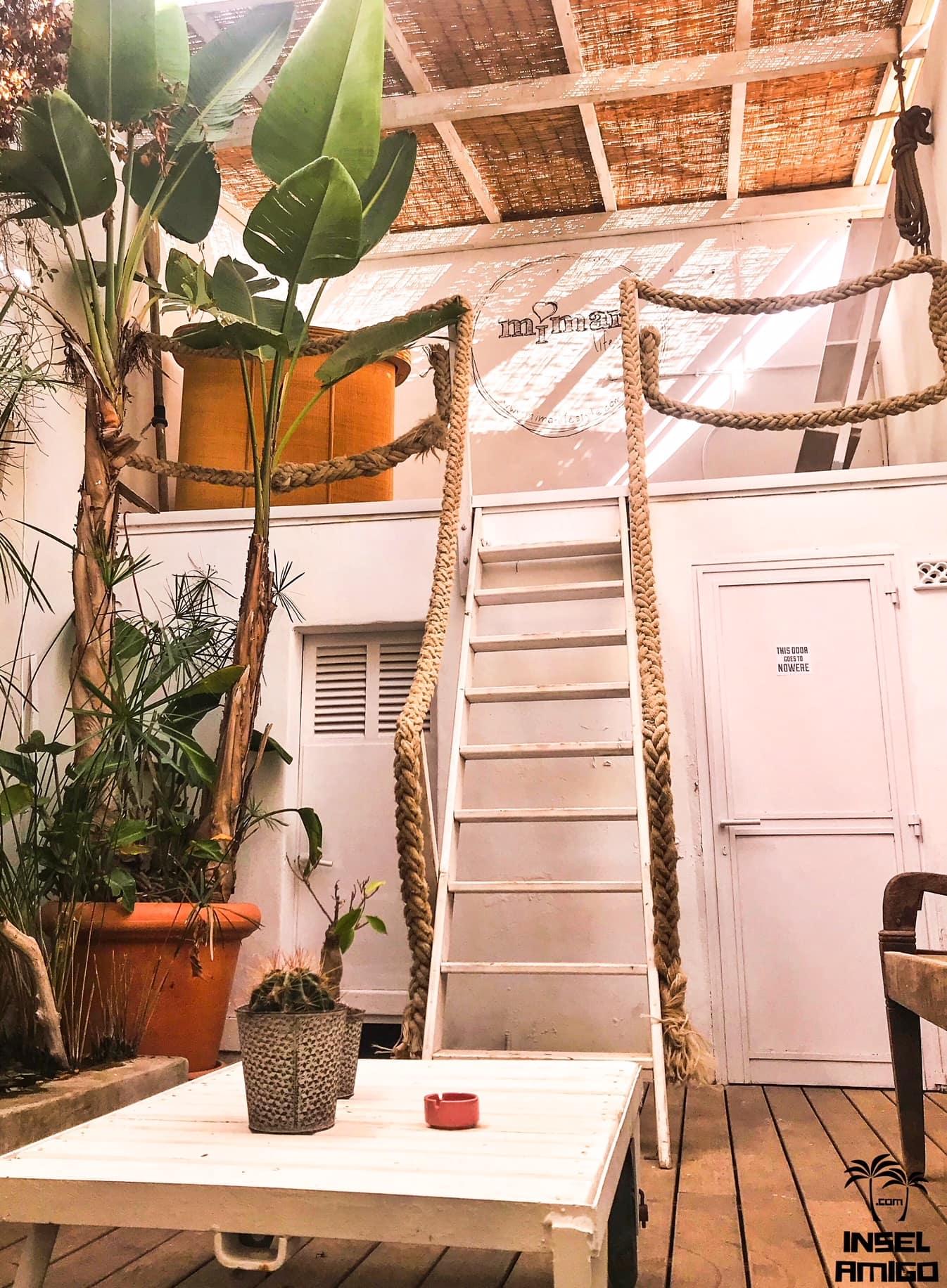 Der chillige Innenhof im mimar