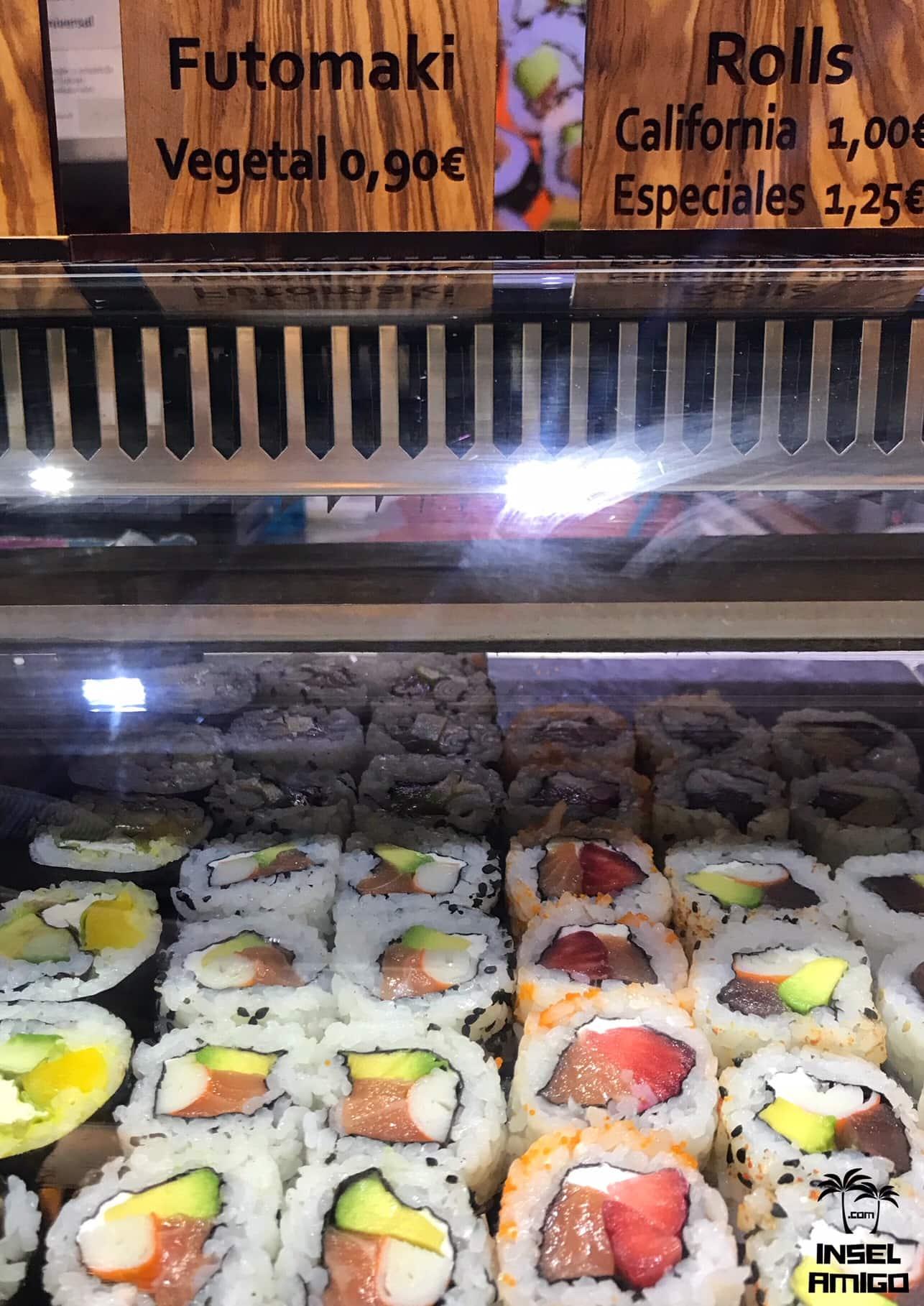 Frisches Sushi im Mercat